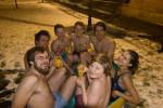 Felsentiger im Pool